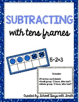 Tens Frame Subtraction