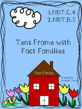 Tens Frame with Fact Families