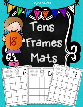 FREE Tens Frames Mats! Math Center