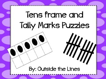 Tens Frames and Tally Mark Puzzles