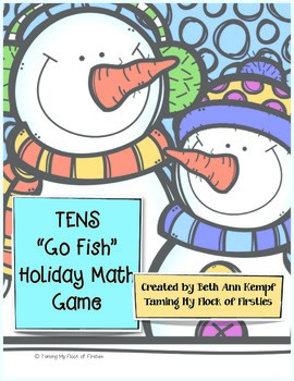 "Tens ""Go Fish"" Holiday Math Game"