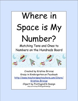 Tens Ones and the Hundred Board Matching Game Space Theme