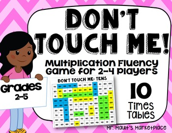 Tens Times Tables: Don't Touch Me! Multiplication Fact Flu