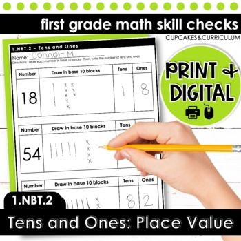 Tens and Ones - First Grade Print and Go