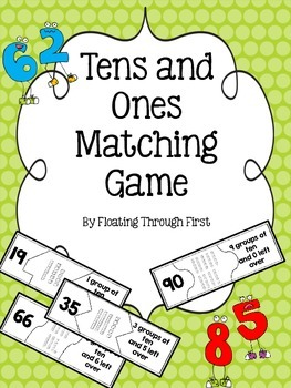 Tens and Ones Matching Game