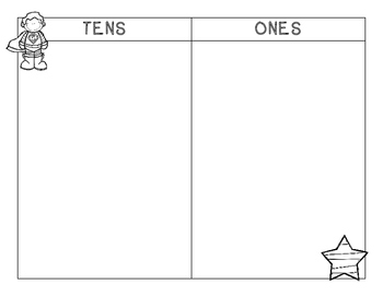 Tens and Ones PLUS Hundreds, Place Value Tens and Ones Mat