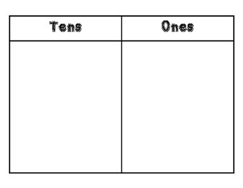 Tens and Ones Work Mat