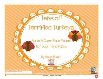 Tens of Terrified Turkeys:  Apple A Day's Book Packet to T