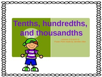 Tenths, Hundredths, and Thousandths (5th Grade EnVision Ma