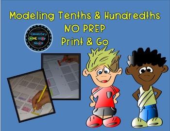 Modeling Tenths and Hundredths