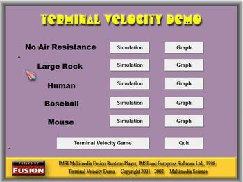 Physics - Terminal Velocity Demo Software