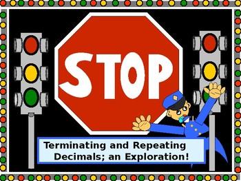 Math Lab:  Terminating and Repeating Decimals