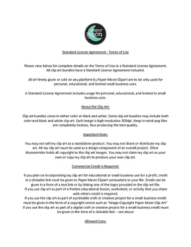 Terms of Use Clarifications - Paper Moon Clip Art