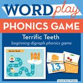 Terrific Teeth Beginning Digraphs Phonics Game