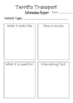 Terrific Transport Information Report