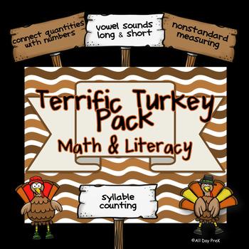 Terrific Turkey Pack: Math and Literacy