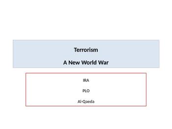 Terrorism A New World War