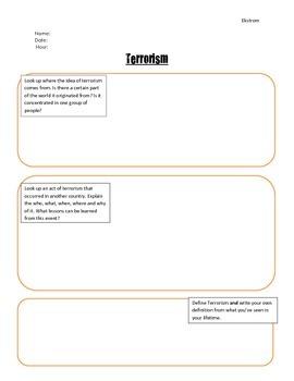 Terrorism Research Response Paper