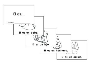 """Tesoros Kinder reading booklet """"El es..."""""""