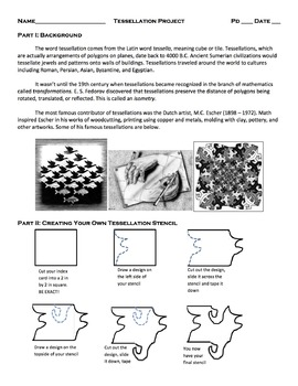 Tessellations Project and Rubric