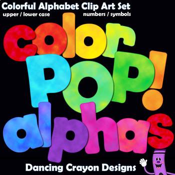 Alphabet Letters: Color POP! Alphabet Clip Art