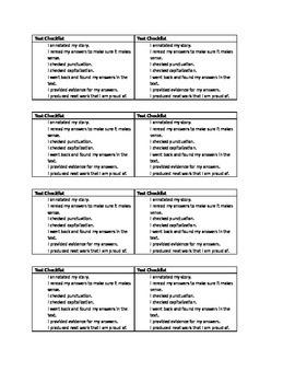 Test Checklist