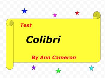 Test:  Colibri  by Ann Cameron