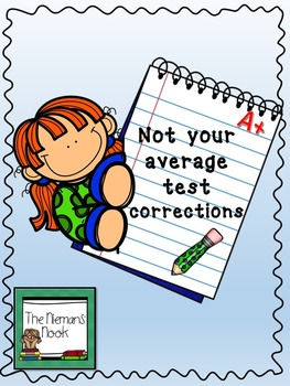 Test Corrections with Student Self Reflection