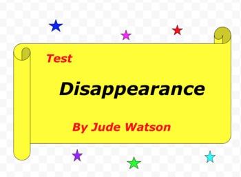 Test:  Disappearance  by Jude Watson