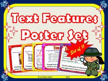 Text Features Poster Set