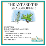 Test Passage & activites: Fable, The Ant and the Grasshopper