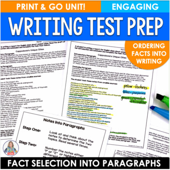 Test Practice for Common Core Fact Selection in Writing