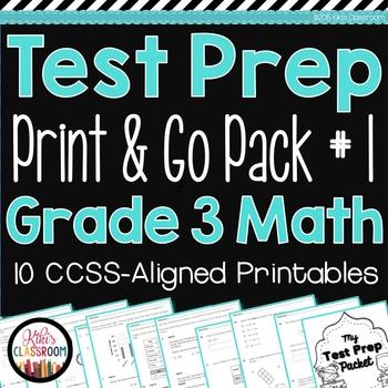 PARCC Math Test Prep 3rd Grade - Printable Practice for St
