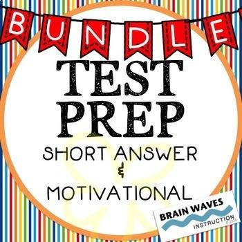Test Prep BUNDLE! - Short Answer Questions and Motivation!