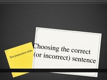 Test Prep: Choosing the Correct Sentence