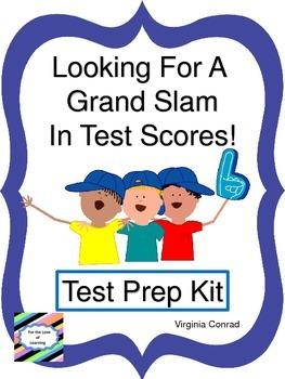 Test Prep Kit--Looking for a Grand Slam!  Baseball Theme