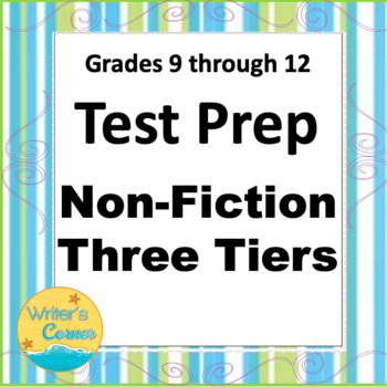 Non-Fiction Test Prep, Levels A, B, C Constructed Response