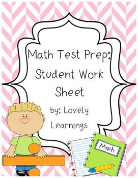 Math Test Prep: Student Work Sheet