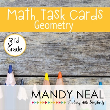 3rd Grade Math Task Cards for Geometry