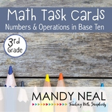 3rd Grade Math Task Cards for Number and Operations in Base Te