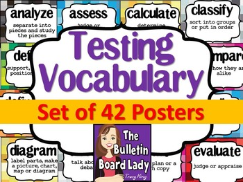 Test Prep Testing Words Bulletin Board Set of 42: Pixelati
