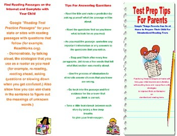Test Prep for Parents Brochure-How Parents Can Help at Home