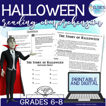 Halloween Reading Comprehension - Informational Text * Que