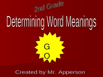 Test Prep to Determine Word Meaning- Context Clues