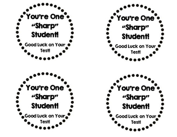 Test Taking Pencil Toppers Printable