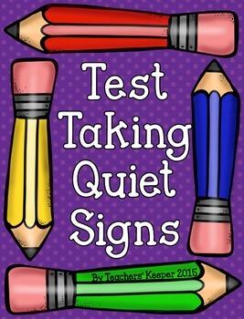 Test Taking Quiet Signs