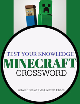 Test Your Minecraft Knowledge Crossword Puzzle