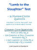 """Test for """"Lamb to the Slaughter"""" by Roald Dahl"""