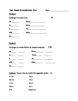 Test for passe compose avec etre.
