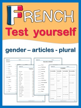 French  Test Yourself  gender, articles, plural